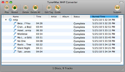 Tune4mac M4P Converter - interface