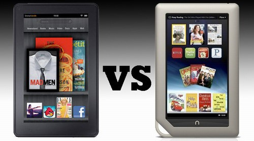 comparsion between Kindle Fire and Nook Tablet