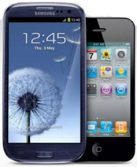samsung Galaxy S III and Apple iPhone