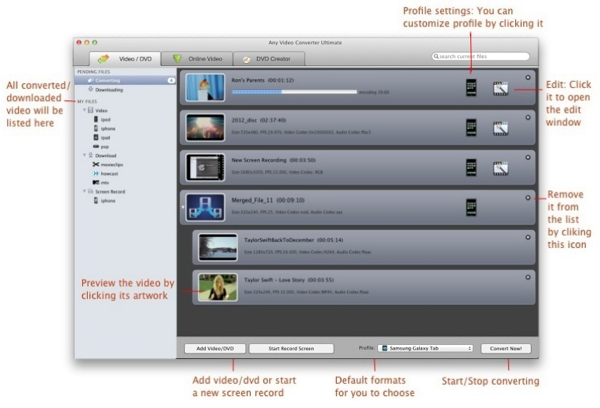 import video into tune4mac video converter ultimate for mac