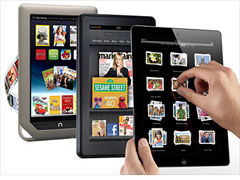 ipad 2, kindle fire, nook tablet