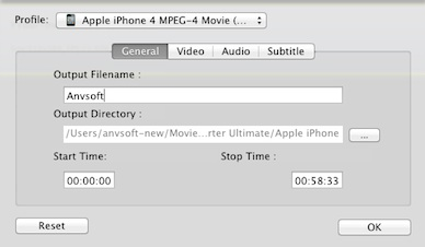 general settings for video converter for mac