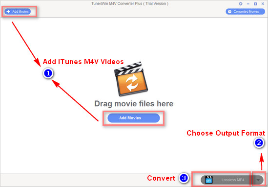 Tutorial for iTunes M4V Converter Plus Windows