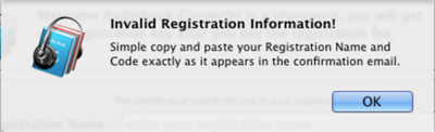 Invalid Registeration
