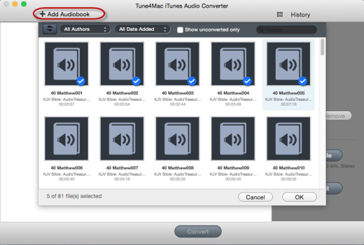 Add AA Audiobooks to iTunes Audio Converter