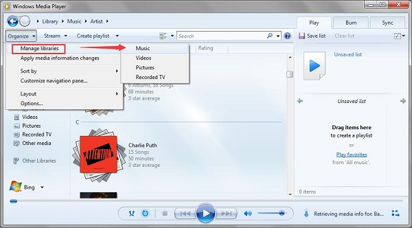 transfer the converted Apple Music to Windows Media Player