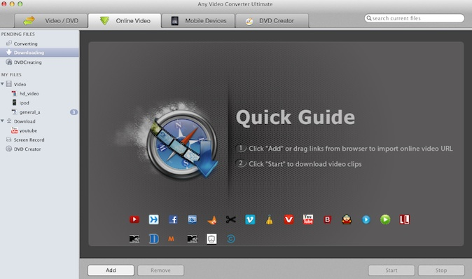 tune4mac youtube downloader interface