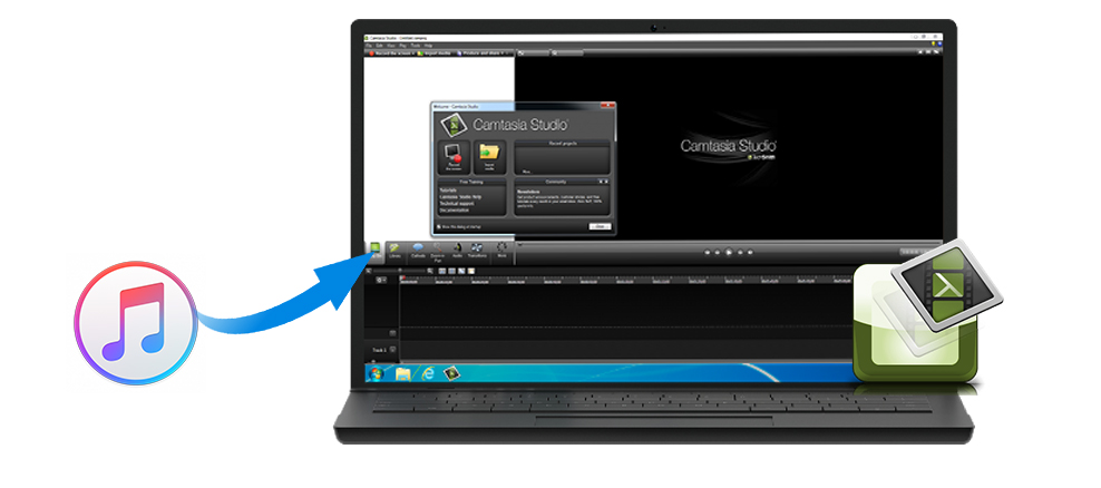 iTunes Music on Camtasia Studio