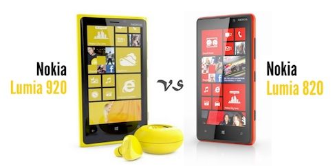 compare nokia lumia 920 vs 820