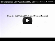 extract mp3 from m4v