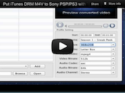 convert itunes m4v to psp